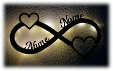 Love Nachtlicht Lampe Deko Liebe Geschenke mit Namen I Sie Ihn Paar Jahrestag