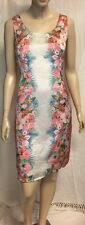 Katies Satin Floral Shift Dress Fully Lined NWT