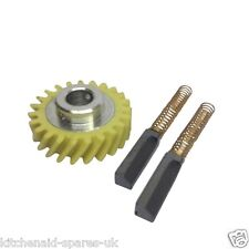 Kitchenaid Artisan Mixer Worm Gear & A Pair of Generic Carbon Motor Brushes.
