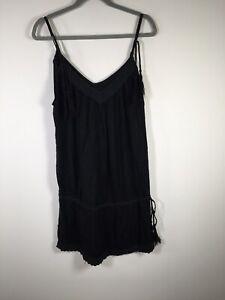 Melissa Odabash womens black slip dress one size 8-16 cotton sleeveless