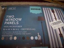 "Merous TWO WINDOW PANELS 52"" * 84"" ( 2 PANELS) BROWN"