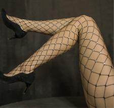 Negro Brillo FISHNET Apretado Pantimedias Calcetines Navidad Moda Estrella hecho a mano