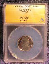 1977-S Jefferson Nickel Proof ANACS PF 69 DCAM