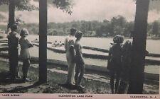 """VINTAGE POSTCARD CLEMENTON LAKE N.J.  AMUSEMENT PARK """"LAKE SCENE"""" CLEMENTON N.J."""