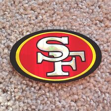 NEW SAN FRANCISCO 49ers 'Chrome Refractor' Embossed Aluminum STICKER/DECAL!