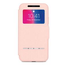 "Moshi SenseCover Portfolio Case for iPhone XS/X 5.8"" Pink Genuine"