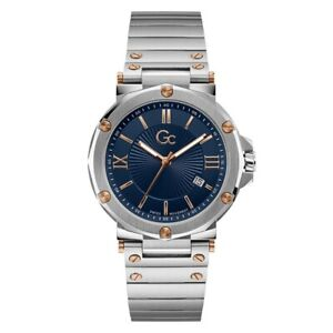 Gc Guess Collection Men's Watch Stainless Steel Bracelet Blue Dial Y61001G7MF