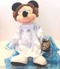 "disney parks star wars 2015 Minnie Mouse as princess leia 12"" plush retired"