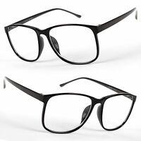 New Large Oversized retro fashi Glasses Clear Lens Thin Frame Nerd Glasses Retro