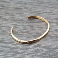 NEW 18K Lovely Rose Gold Filled Solid Women's 4mm Plain Bangle Bracelet Fashion