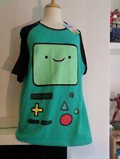BMO Adventure Time T-shirt cartoon network WOMEN'S TAGLIA 14 - 16 KAWAII TEE SHIRT