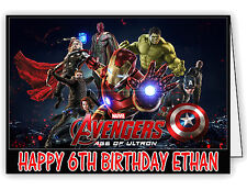 Personalised Birthday Card with Avengers Age of Ultron Print - Any name and age