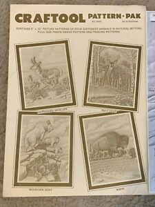 Craftool Pattern Pak 6003 AL STOHLMAN Goat BISON Mule Deer ANTELOPE Tracing