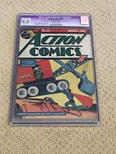 New ListingAction Comics 22 Cgc 4.0 Ow Pages (Golden Age Superman from 1940!) + magnet