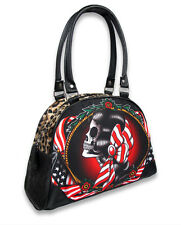 Liquorbrand American Gypsy Skull Bowler Bag Gothic Rockabilly Handbag