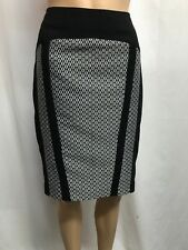BASQUE PETITE SIZE 8 BLACK AND WHITE PENCIL SKIRT,CAREER,OCCASION