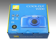 New NIKON Coolpix W100BL Waterproof Blue from Japan Free Ship