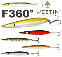 Westin Bass Sea Trout Fishing Lure Sandeel Salt Eel Seeker 26g F360° Lures Pike