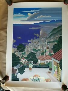 1992 KOBE COAST AT NIGHT Serigraph on Paper by Thomas McKnight, Signed/#ed/COA