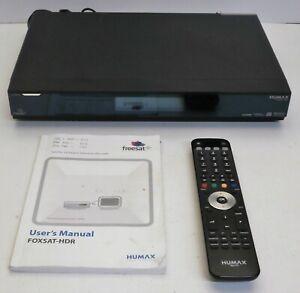 Humax FOXSAT-HDR Freesat+ HD Digital TV Twin Tuner Hard Drive Recorder - Working