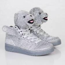 Adidas x Jeremy Scott Bear Sneakers Silver Men's Size Us 12 Eu 46 2/3 G96187