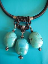 Turquoise Pendant Necklace by Paige Wallace