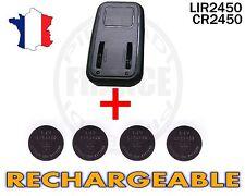 CHARGEUR + 4 PILES BOUTON CR2450 RECHARGEABLE 3.6V Lir2450 BATTERIE ACCU ACCUS