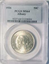 1936 Albany Commemorative Silver Half Dollar - PCGS MS-64 - Mint State 64