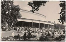 Postcard RPPC MA Greetings From Tanglewood Lenox Berkshires Massachusetts 1960s
