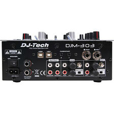 DJ Tech DJM 303 Twin USB 2CH DJ Mixer 9 Effects including in-LoopSampler