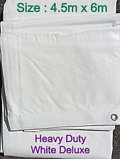 MARKET STALL 4.5M x 6.0M WHITE DELUXE HEAVY DUTY SHEET COVER (14' x 19')
