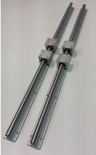 Linear Guide Rail 43 X 2 Amp Bearings Block X 4 Cnc Kit Router Mill Plasma Lathe