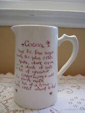Vintage England Porcelain Cocoa Recipe Pitcher (Rare)