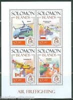 SOLOMON ISLANDS 2014 AIR FIREFIGHTING SHEET MINT NH