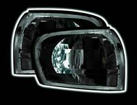 SUBARU Impreza Front Corner Lamp Side Lights Crystal Black Design Classic Shape