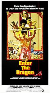 Enter the Dragon Bruce Lee cult movie poster print #26