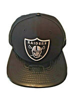 New Era 9Fifty Oakland Raiders Black On Black Solid Shine Snapback Hat