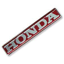 *1PC. RED HONDA BADGE FLEX CLEAR RESIN COATED ON STICKER DECAL VINYL METALLIC