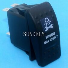 NARVA ARB CARLING STYLE ROCKER SWITCH WITH ENGINE BAY LIGHT BLUE ON/OFF SWITCH
