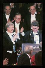 Presidential Political People postcard Jimmy Carter Ronald Reagan