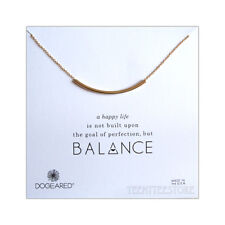 "Dogeared Balance Tube 14K Gold Plated on 925 Sterling Silver 18"" Necklace Boxed"