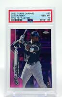 Luis Robert 2020 Topps Chrome Pink Refractor Rookie #60 RC PSA 10 Gem Mint