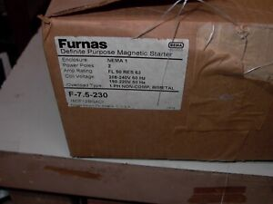 NEW OLD STOCK FURNAS MAGNETIC  STARTER F-7.5 -208 / 240 V 1 PH NEMA 1