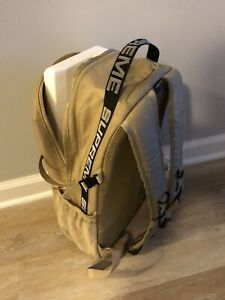Supreme SS18 Tan Cordura Backpack Bag Used