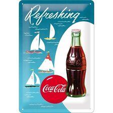 Coca Cola Sailing Boat Bottle Drink Cafe 50s Diner Medium 3D Metal Embossed Sign
