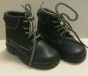 BABY Jungen Kinder Schuhe BOOTS Herbst MADE IN ITALY Gr. 22 D.Blau LEDER NEU