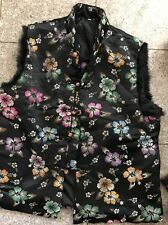 Asian Style Black Vest With Shiny Flowers, Hong Kong