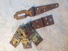 Vintage hinge and lock strap  salvage hardware