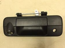 2007-13 TOYOTA TUNDRA TAILGATE HANDLE REAR BACK LATCH W/ KEY & CAMERA HOLE BLACK