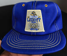 SCHLITZ LIGHT BEER 1980's VINTAGE RETRO SNAPBACK TRUCKER HAT CAP SWINGSTER